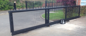 New Installation of Security Gate, Nice Robus 1000 & Security Fencing [Sliding Gate Automation System]