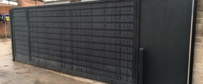New Installation of Wooden Cladded Sliding Gate, Nice Robus 1000 [Sliding Gate Automation System]
