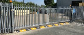 Swing Gates Converted to Automated Sliding Gates [Nice RB1000]