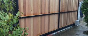 Cedar Cladded Automated Sliding Gate [Nice RB600]