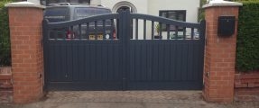 New Installation of Wooden Gates, Nice Wingo 2024 [Swinging Gate Automation System]