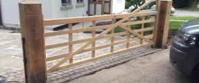 New Installation of Automation to Five-Bar Farm Gate [SINGLE Swinging Gate Automation System]