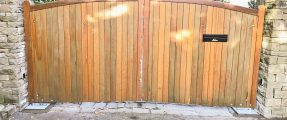 Install of New Automation System – Existing Wooden Gates [Nice BM4024]