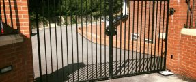 IN & OUT CAR PARK GATES AT RESIDENTIAL APARTMENTS