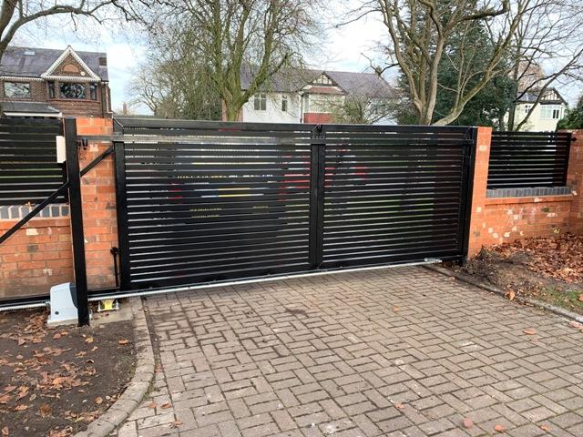 IMG_4090-1-1024x768 New Installation [Steel sliding gate with open slats] using Nice Robus 1000 automation & Diatem wireless intercom]